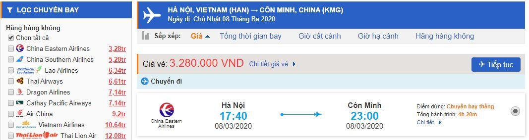 Vé máy bay đi Vân Nam Trung Quốc