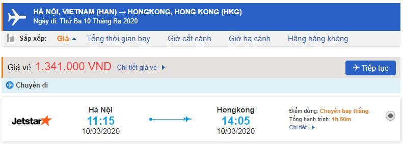 Vé máy bay Hà Nội Hong Kong giá rẻ