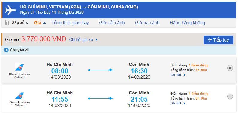 Vé máy bay đi Vân Nam Côn Minh