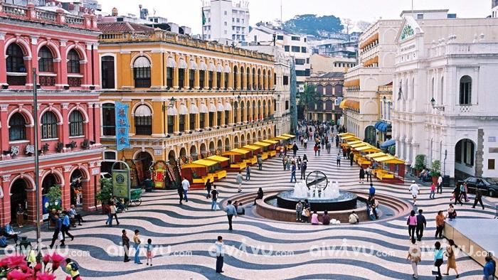 Quảng trường Senado địa điểm thu hút khách du lịch ở Macau