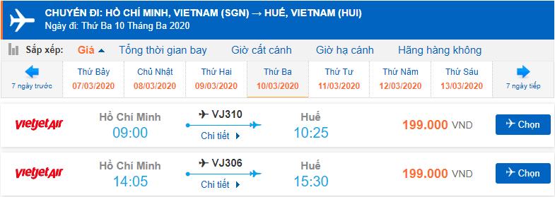 Vé máy bay Sài Gòn Huế bao nhiêu tiền