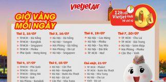 Khuyến mãi giờ vàng Vietjet ngập tràn vé 0 đồng tất cả các đường bay