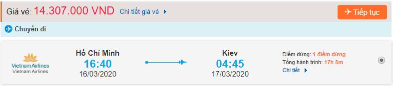 Vé máy bay từ TPHCM đi Ukraine