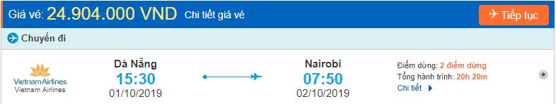 Vé máy bay đi Nairobi từ Đà Nẵng