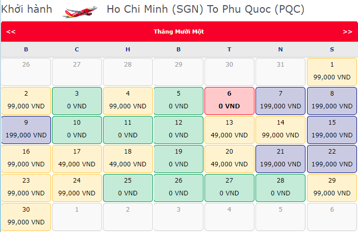 Vé khuyến mãi 0 đồng từ Vietjet đến Phú Quốc