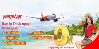 85.000 vé 0 đồng từ Vietjet khuyến mãi 3 ngày vàng đi đến Phú Quốc