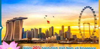 Quốc khánh Singapore Vietnam Airlines khuyến mãi 20% giá vé