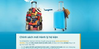 Từ ngày 01/08 Vietnam Airlines thay đổi chính sách hành lý mới