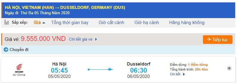 Vé máy bay đi Dusseldorf từ Hà Nội