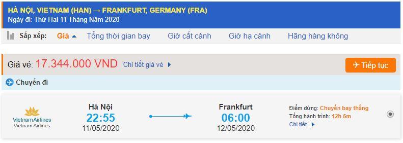 Vé máy bay đi Frankfurt từ Hà Nội