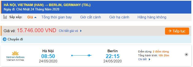 Vé máy bay đi Đức Berlin từ Hà Nội