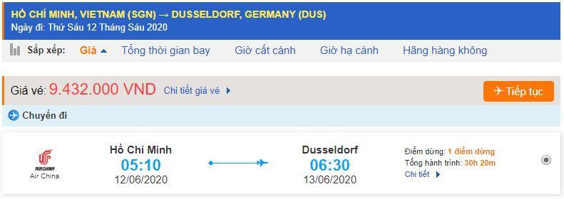 Vé máy bay đi Dusseldorf từ Hồ Chí Miinh