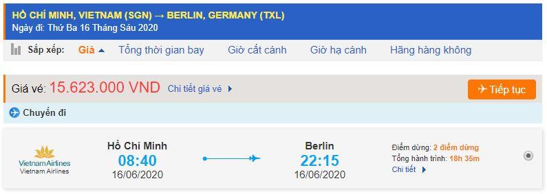 Vé máy bay đi Berlin từ Hồ Chí Minh