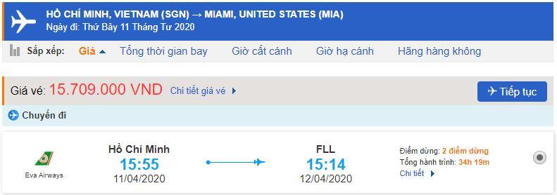 Vé máy bay từ TPHCM đi Miami