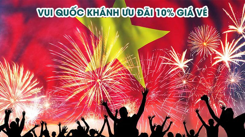 Vietnam Airlines chào quốc tế 2/9 khuyến mãi đặc biệt giảm 10% giá vé