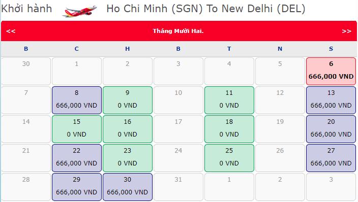Khuyến mãi vé 0 đồng bay thẳng Ấn Độ từ Hồ Chí Minh