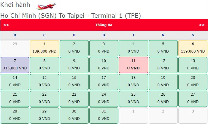 Bay khắp Đài Loan từ Hồ Chí Minh chỉ với 0 đồng
