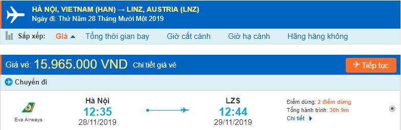 Vé máy bay đi Linz từ Hà Nội