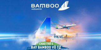 Chào thứ 4 cùng Bamboo Airways săn vé khuyến mãi chỉ 99.000 VND