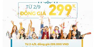 Vietnam Airlines khuyến mãi đồng giá 299.000 VND tất cả đường bay nội địa