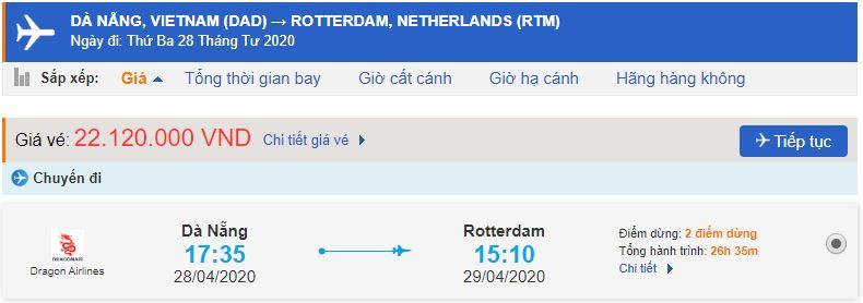 Vé máy bay giá rẻ Đà Nẵng đi Rotterdam