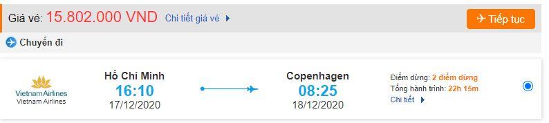 Vé máy bay đi copenhagen từ TPHCM