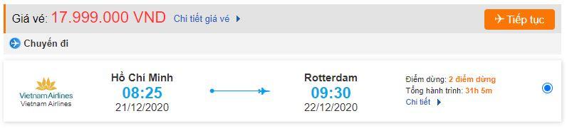 Vé máy bay Vietnam Airlines đi Rotterdam