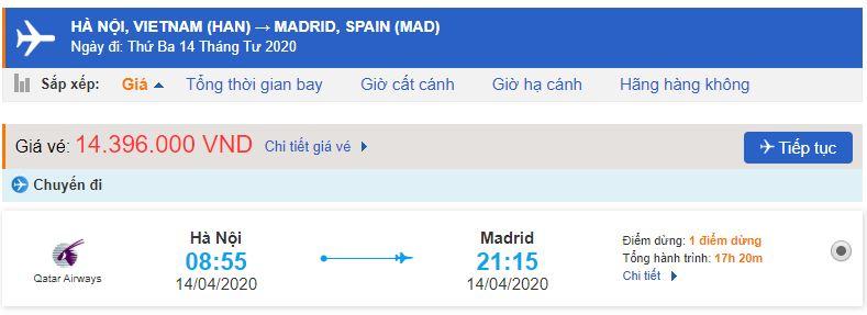 Vé máy bay đi Madrid Tây Ban Nha