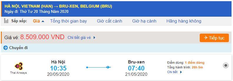 Vé máy bay Hà Nội đi Brussels