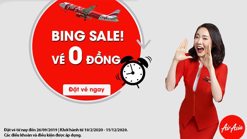 Khuyến mãi lớn từ Air Asia vé máy bay chỉ từ 0 đồng
