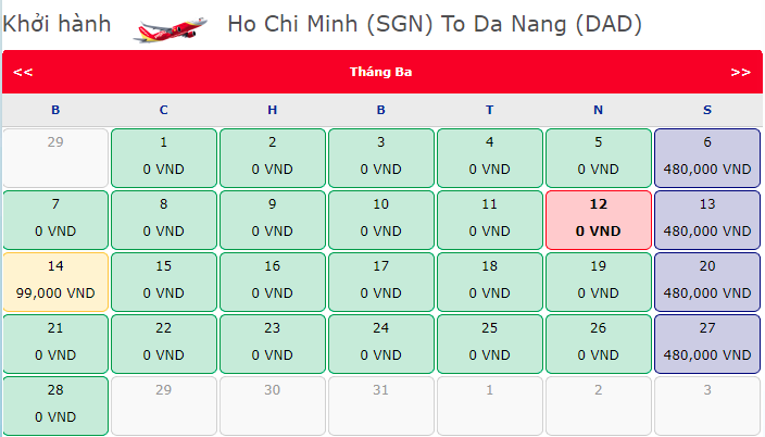 Vé máy bay Hồ Chí Minh đi Đà Nẵng chỉ từ 0 đồng