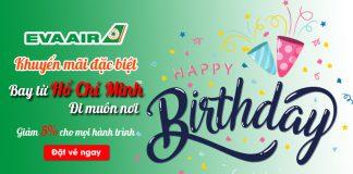 Khuyến mãi mừng kỷ niệm 30 năm thành lập Eva Air