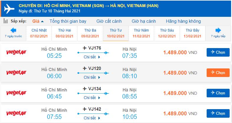 Vé máy bay Tết 2021 Vietjet