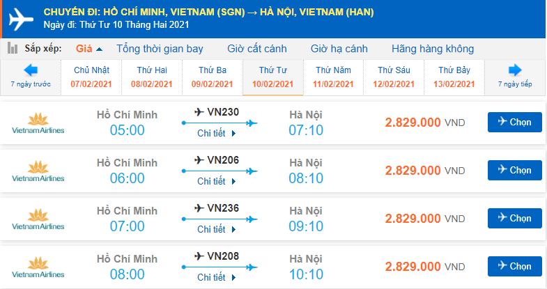 Vé máy bay Tết Vietnam Airlines