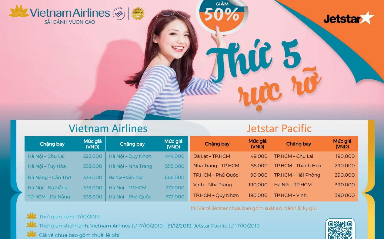 Săn khuyến mãi từ Vietnam Airlines thỏa sức trải nghiệm