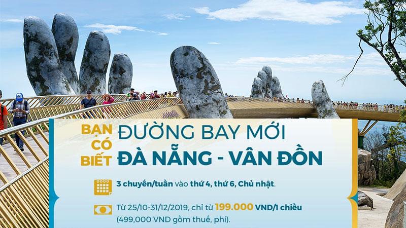 Đường bay mới Đà Nẵng – Vân Đồn Vietnam Airlines