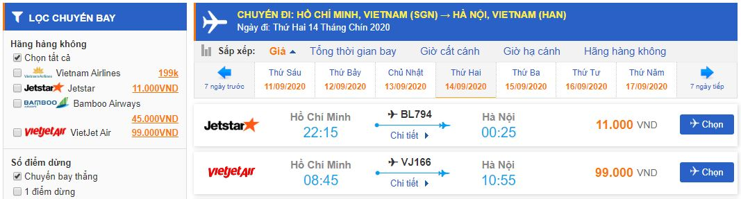 Giá vé máy bay đi Hà Nội bao nhiêu tiền?