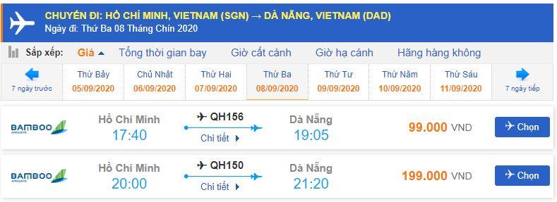 Đặt vé máy bay Sài Gòn Đà Nẵng