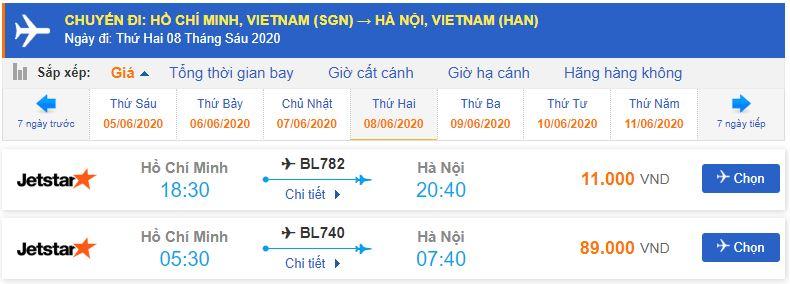 Vé máy bay giá rẻ đi Hà Nội Jetstar từ TPHCM