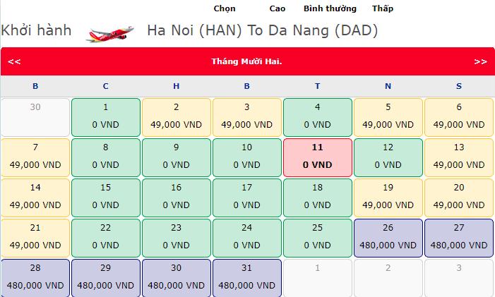 Vé máy bay 0 đồng bay khắp châu Á hành trình Hà Nội - Đà Nẵng