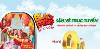 Nhân Black Friday Vietjet Air khuyến mãi 1.680.000 vé 0 đồng
