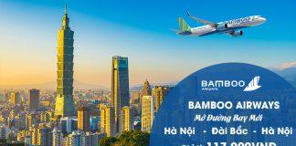 Bamboo Airways mở đường bay mới Hà Nội – Đài Bắc chỉ 177.000 VND