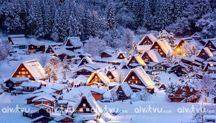 Ngôi làng cổ Shirakawago cũng là điểm nên đến tại Nhật Bản tháng 12