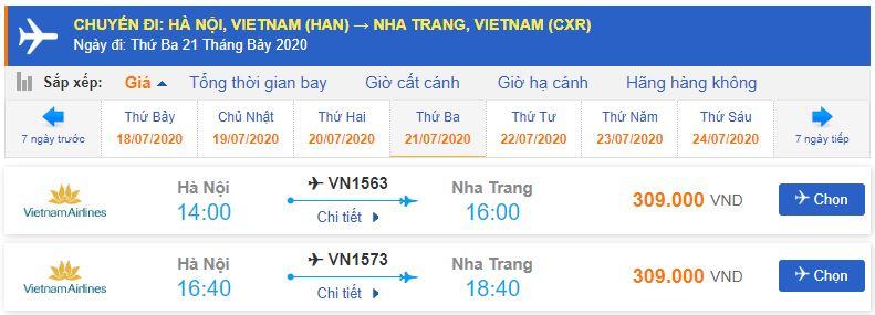 Vé máy bay đi Nha Trang tháng 7 từ Hà Nội