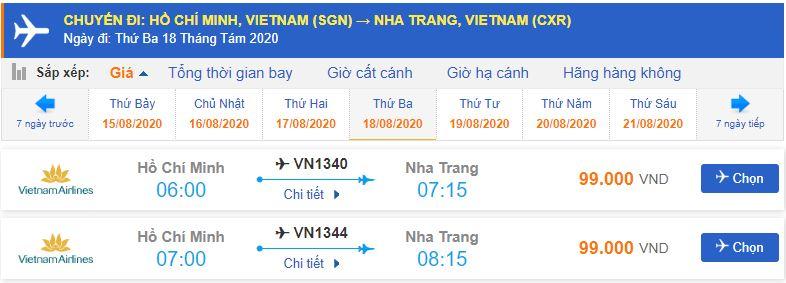 Vé máy bay đi Nha Trang tháng 8 từ Hồ Chí Minh