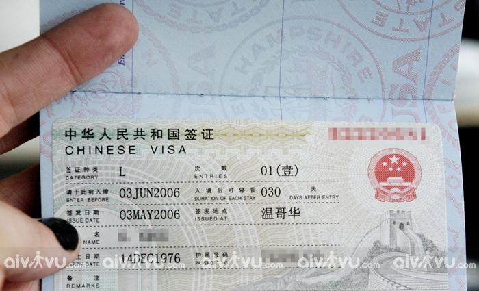 Dịch vụ làm visa Trung Quốc không cần chứng minh tài chính