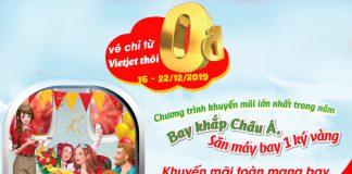 Vietjet Air khuyến mãi Giáng Sinh với 5 triệu vé 0 đồng