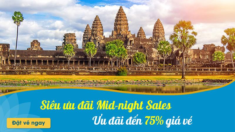 Mid – Night Sales Vietnam Airlines giảm đến 75% giá vé máy bay