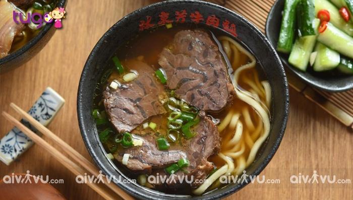 Mỳ bò - món ăn nổi tiếng của ẩm thực Đài Loan