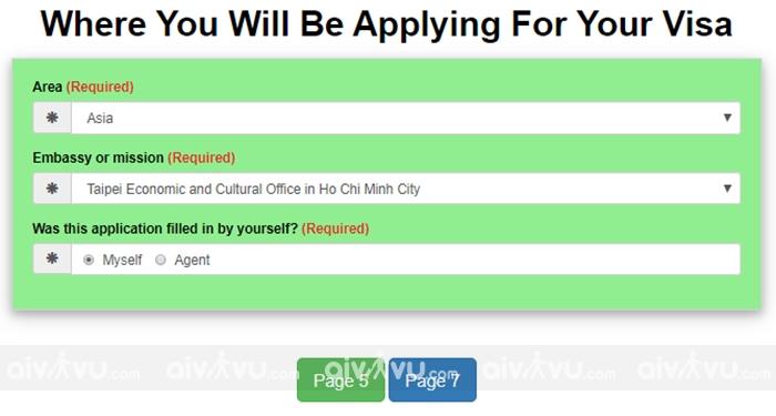 Bước 7: Nơi bạn nộp visa